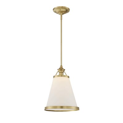 Kayden 1-Light Mini Pendant Finish: Warm Brass