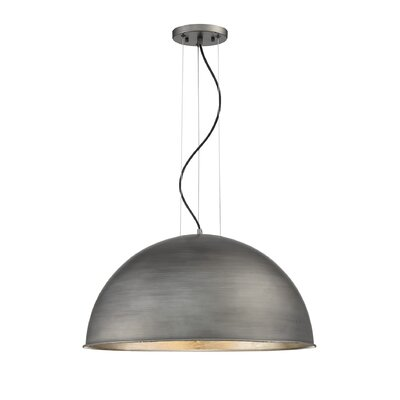 Xzavier 3-Light Inverted Pendant Shade Color: Rubbed Zinc/Silver