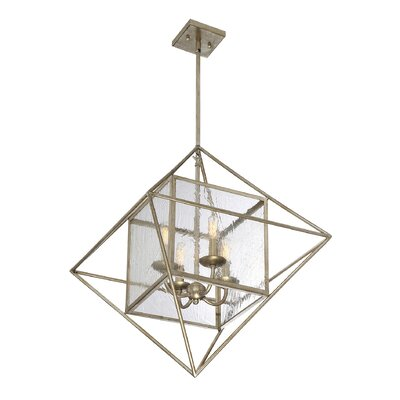 Marlin 4-Light Foyer Pendant Finish: Argentum