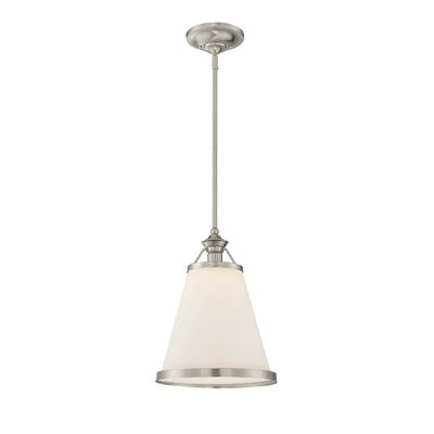 Kayden 1-Light Mini Pendant Finish: Satin Nickel