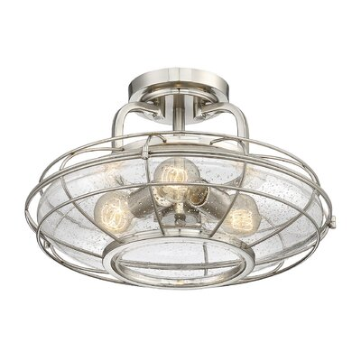 Roberts 3-Light Semi-Flush Mount