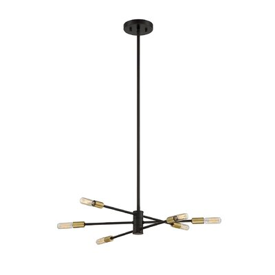 Whaleback 6-Light Geometric Pendant Finish: Bronze