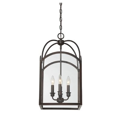Mount Airy 4-Light Foyer Pendant Finish: English Bronze, Size: 28.25 H x 15 W