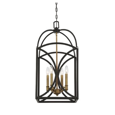 Yepez 4-Light Foyer Pendant Size: 28 H x 14 W