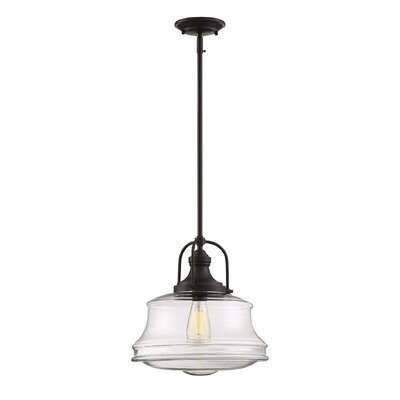 Nadine 1-Light Schoolhouse Pendant Finish: English Bronze