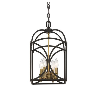 Yepez 4-Light Foyer Pendant Size: 18 H x 10 W