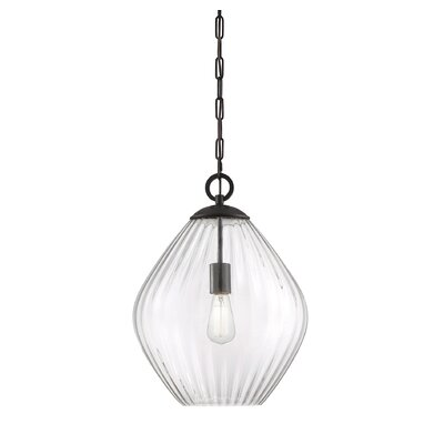 Jarious 1-Light Mini Pendant Finish: English Bronze