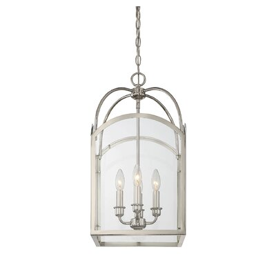 Mount Airy 4-Light Foyer Pendant Finish: Polished Nickel, Size: 23 H x 12 W