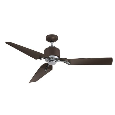 52 Laumer 3 Blade Ceiling Fan with Remote Control Finish: Metallic Bronze/Chrome with Metallic Bronze Blades
