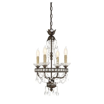 Lurie 4-Light Crystal Chandelier