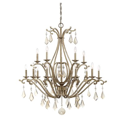 Marist 15-Light Crystal Chandelier