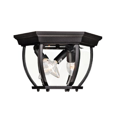3-Light Flush Mount Finish: Black