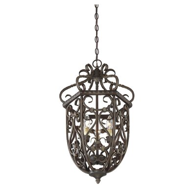 Isaac 3-Light Cage Foyer Pendant