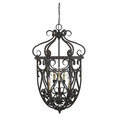 Isaac 6-Light Cage Foyer Pendant