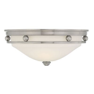 2-Light Flush Mount Finish: Brushed Pewter
