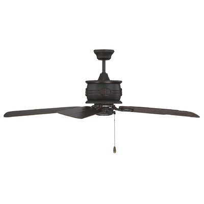 52 Dowler 5-Blade Outdoor Ceiling Fan Finish: English Bronze with Chestnut Blades