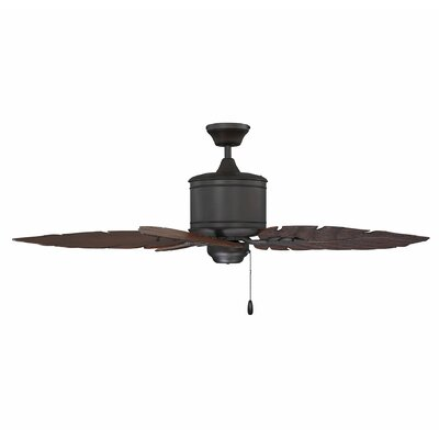 52 Trish 5-Blade Outdoor Ceiling Fan Color: English Bronze with Rosewood Blades