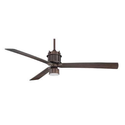 56 Benito 3-Blade Ceiling Fan Finish: Byzantine Bronze