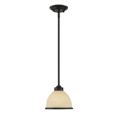 Nan 1-Light Mini Pendant Finish: English Bronze