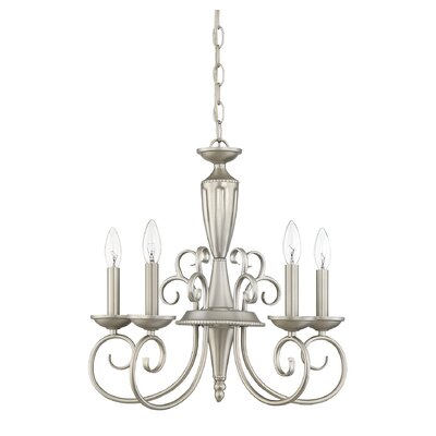 Liberty 5-Light Candle-Style Chandelier Finish: Pewter