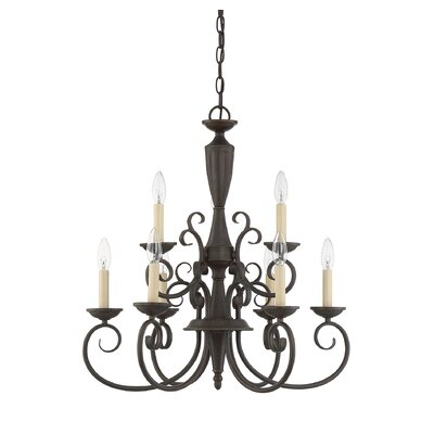 Ellett 9-Light Candle-Style Chandelier Finish: Walnut Patina