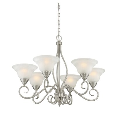 Hibbitts 6-Light Shaded Chandelier