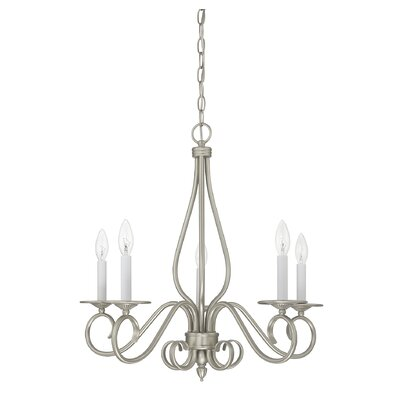 Polar 5-Light Candle-Style Chandelier