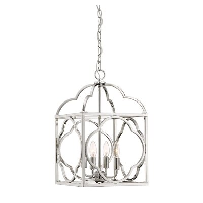 Sybil 4-Light Foyer Pendant Finish: Polished Nickel