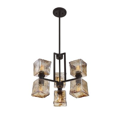 Additri Modern 6-Light Crystal Chandelier