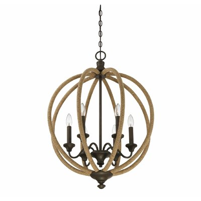 Georgianna 6-Light LED Foyer Pendant