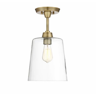 Wakefield 1-Light Semi Flush Mount