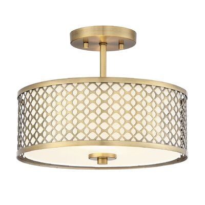 Rodarte 2-Light Semi Flush Mount
