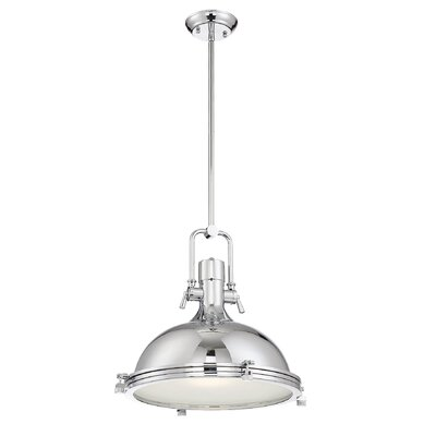Carnes 1-Light Inverted Pendant Size: 15 H x 18 W x 18 D