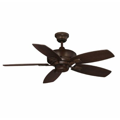 42 Adrian 5-Blade Ceiling Fan Finish: Espresso with Walnut Blades