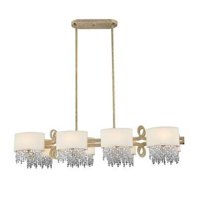 Palais Linear 8 Light Chandelier Island Light