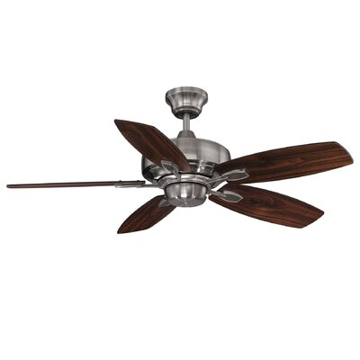 42 Creekwood 5-Blade Ceiling Fan Finish: Brushed Pewter with Hickory Blades