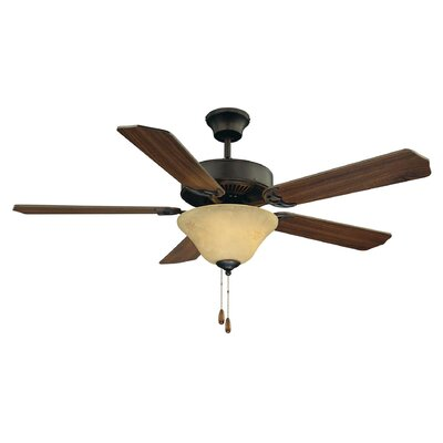 52 Garrett 5-Blade Ceiling Fan Finish: English Bronze