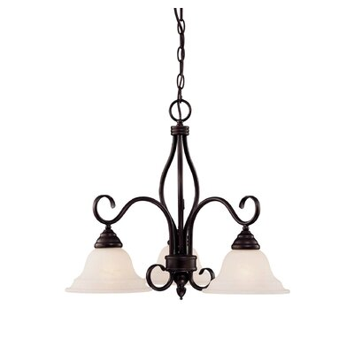 Bryce 3-Light Shaded Chandelier Finish: English Bronze