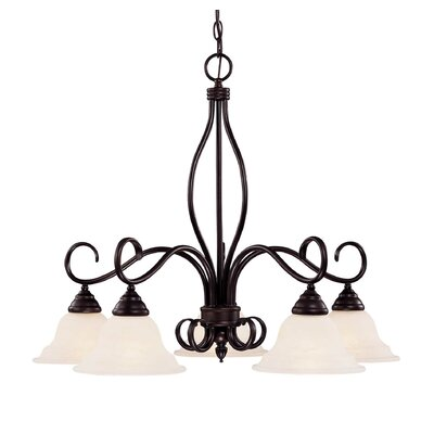 Ingles 5-Light Shaded Chandelier Color: English Bronze