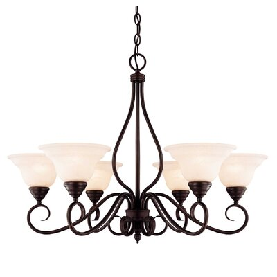 Ingles 6-Light Shaded Chandelier Color: English Bronze