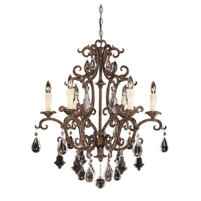 Provenciale 6-Light Crystal Chandelier