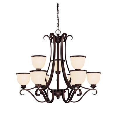 Willoughby 9-Light Shaded Chandelier