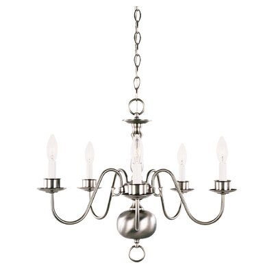 Alvin 5-Light Candle-Style Chandelier