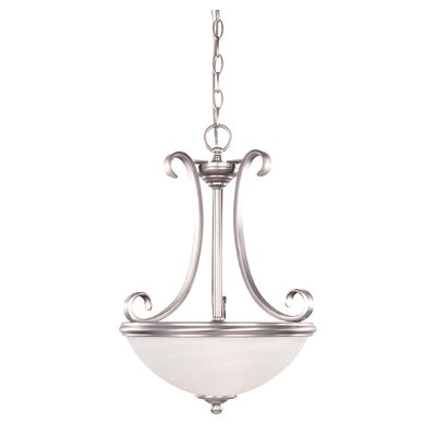 Willoughby 2-Light Inverted Pendant Finish: Pewter