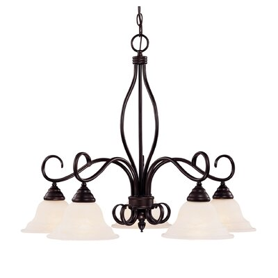 Bryce 5-Light Shaded Chandelier Finish: English Bronze