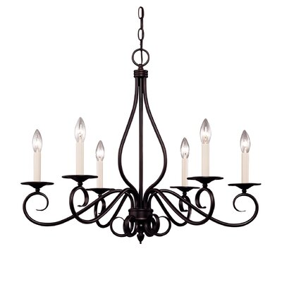 Bryce 6-Light Candle-Style Chandelier Finish: English Bronze