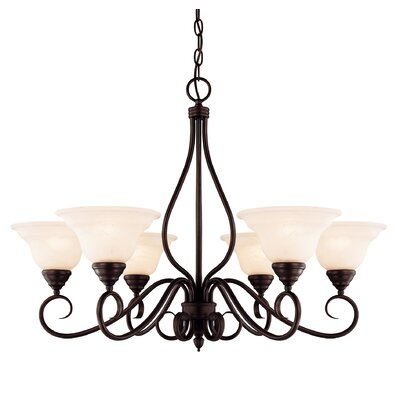 Bryce 6-Light Shaded Chandelier Finish: English Bronze