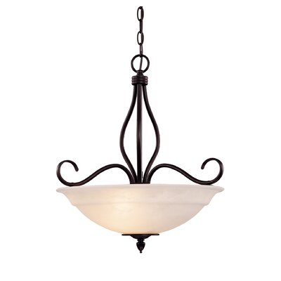 Ingles 3-Light Inverted Pendant Color: English Bronze