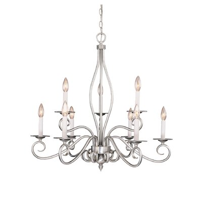 Polar 9-Light Candle-Style Chandelier