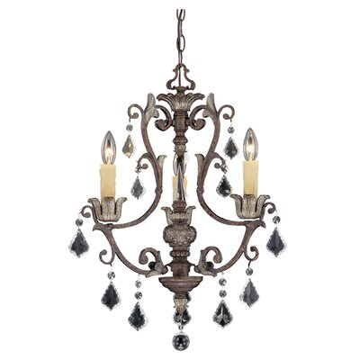 Elizabeth 3-Light Crystal Chandelier